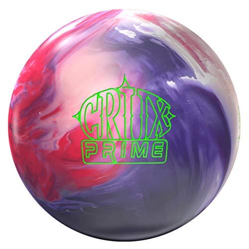 Storm Crux Prime, Rouge/Blanc/Violet Solide, Boule de Bowling réactive pour débutants et Joueurs de Tournoi – avec nettoyant de Balle EMAX 100 ML, 15 LBS
