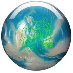 Storm Tropical – Blanc/Bleu, Surface polie – Boule de Bowling réactive pour débutants et Joueurs de Tournoi – avec nettoyant de Balle EMAX 100 ML, 13 LBS