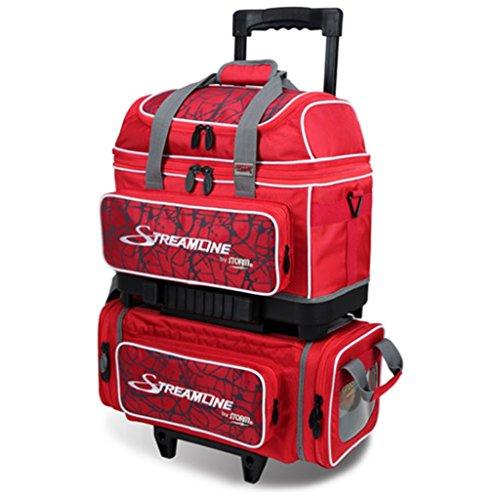 Storm Streamline Sac de Bowling à roulettes 4Boules Rouge craquelé/Rouge