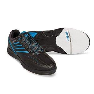 KR Strikeforce Cross Fire Lite Noir/Bleu Homme Chaussures de bowling pour homme Taille 40-46, pour droitiers et gauchers, 44.5