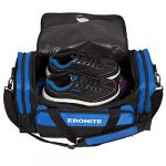 EMAX Bowling Service GmbH MAXIMIZE YOUR GAME Conquest Sac à Chaussures Double Tote Multi Sac à Chaussures pour Deux Boules de Bowling et Chaussures de Bowling, Bleu Roi