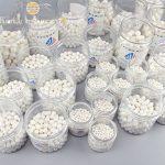 Huanyu Boules de broyage en oxyde de zirconium stabilisées à l'yttrium de 1000 g pour broyeur à boulets planétaire de laboratoire (5 mm)