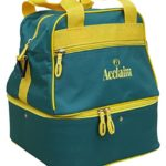 Sac en nylon, quatre boules de bowling, Bottle Green/Yellow