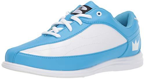 Brunswick Bliss Chaussures de Bowling pour Femme, Femme, 58104206 085, Bleu/Blanc, 8.5