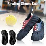 Cuhawudba 1 paire de couvre-chaussures de bowling de qualité supérieure, pour l'intérieur et l'extérieur du centre de bowling, maison, bureau L Noir