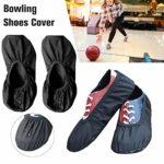 Cuhawudba 1 paire de couvre-chaussures de bowling de qualité supérieure, pour l'intérieur et l'extérieur du centre de bowling, maison, bureau M Noir