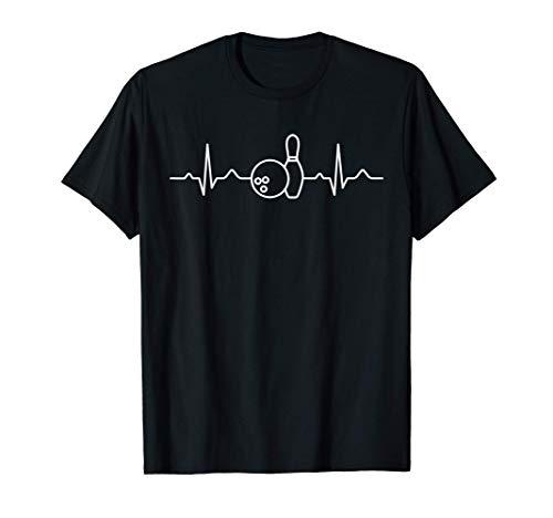 Cadeau pour le tournoi de boules de bowling Heartbeat Bowler T-Shirt