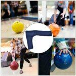 Alomejor Gants de Bowling Bowling Thumb Saver Protection Gant Gauche Droite Gant de Vitesse pour Bowling Ball Sports(Bleu)