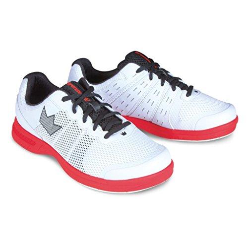 Brunswick Fuze Chaussures de Bowling pour Homme Blanc/Rouge, Homme, Fuze Chaussures de Bowling pour Homme Blanc/Rouge, BRU5830411914, Blanc/Rouge, 13.5 UK