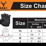 Goat Gants de bowling confortables et flexibles pour cyclisme, haltérophilie et bowling – Noir fluo – Taille 6/7,6
