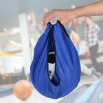 EVTSCAN 1 Paquet de Sac de balançoire de Bowling, Sac de Support de Nettoyeur de Balle de Transporteur de Sac de polisseur de Bowling pour équipement de Gymnastique (Noir, Bleu, Gris)(Bleu)