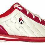 Chaussures de bowling 3G Kicks, pour homme et femme, pour droitiers et gauchers, blanc/rose