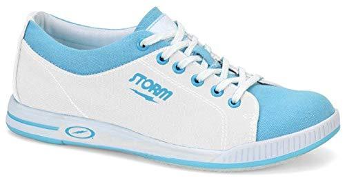 EMAX Bowling Service GmbH MAXIMIZE YOUR GAME Storm Meadow – Bleu/blanc – Chaussures de bowling pour femme – Blanc – Blanc., 39 EU