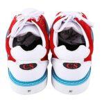 WJFGGXHK Chaussures Bowling pour Hommes Chaussures Bowling Bowling Bols en Cuir Chaussures avec Semelles Coulissantes,Rouge,38 EU