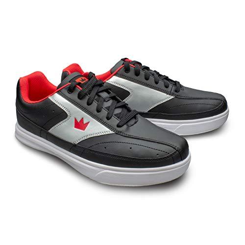 Brunswick Renegade Chaussures de bowling pour homme et femme pour droitiers et gauchers 4 couleurs Pointure 38-47 – Multicolore – noir/rouge, 39 EU