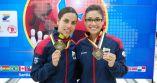 2016 PABCON Women's Doubles champions - from left, Rocio Restrepo & Clara Juliana Guerrero of Colombia.
