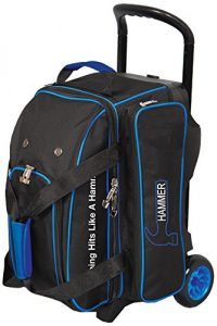 Blue and Black Ebonite Double Ball Rolelr Bag