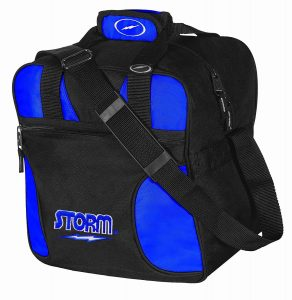 Black and Blue Storm Bowling Bag for one ball