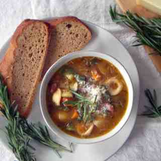 Rosemary Minestrone Soup (with slow cooker option)