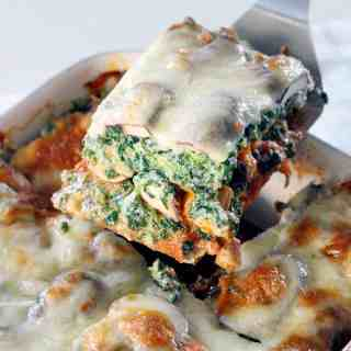 Spinach and Mushroom Vegetarian Lasagna