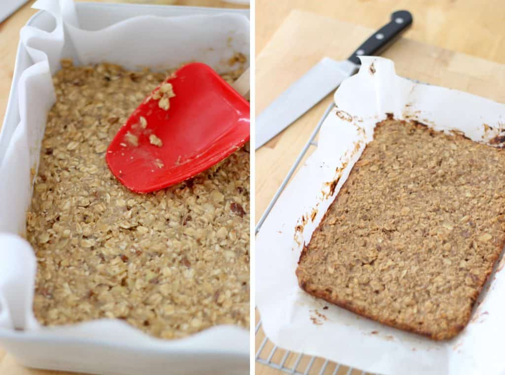 5 Ingredient Peanut Butter and Banana Energy Bars 2