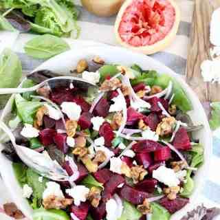 Roasted Beet Salad with Grapefruit Vinaigrette