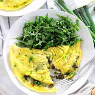 Mushroom and Cheddar Omelettes