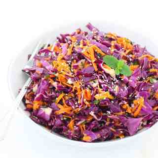 Thai Sesame Red Cabbage and Carrot Salad