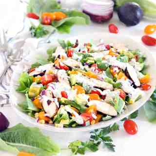 Lightened-Up Cobb Salad with Buttermilk Ranch Dressing
