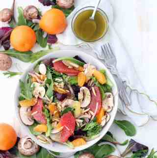Winter Citrus Salad with Red Wine Vinaigrette