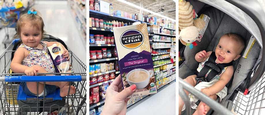 Shopping in Walmart for Chai Latte Concentrate