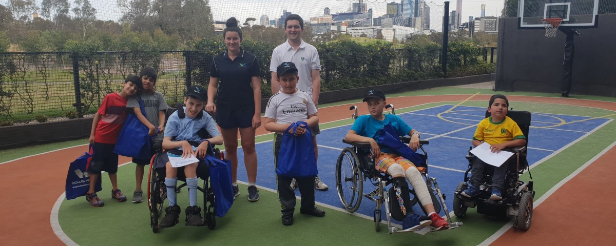 Bowls Victoria teamed up with DSR and VPRS to visit kids at the Royal Children's Hospital and Monash Hospital
