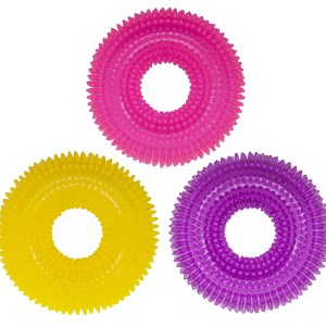 interactive spikey ring dog toy