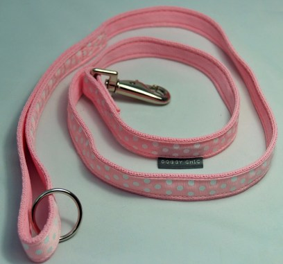 DCHIC Baby Pink Polka Dot Lead for your dog