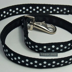 DCHIC Black Polka Dot Lead for your dog