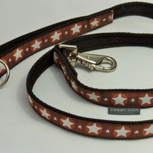 Brown Star Lead for your dog