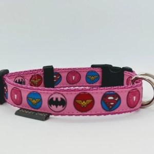 girl superhero dog collar