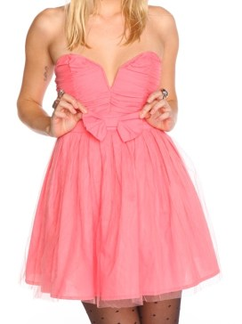 robe bustier rose