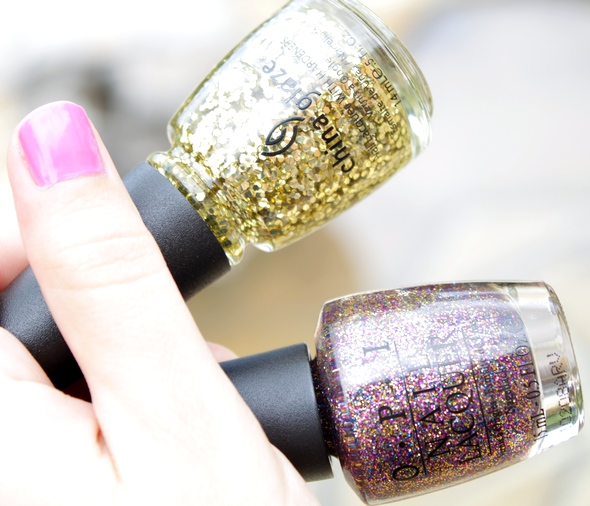 opi china glaze nail polish glitters sparkle-icious dorothy who