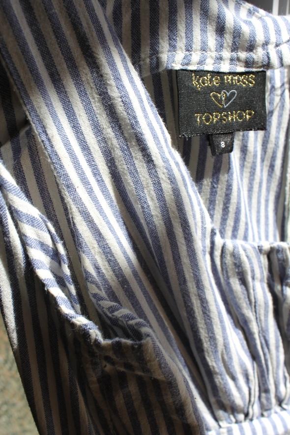 dress robe kate moss topshop blue bleue