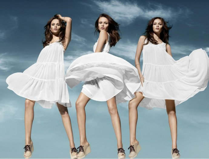 hm robe blanche