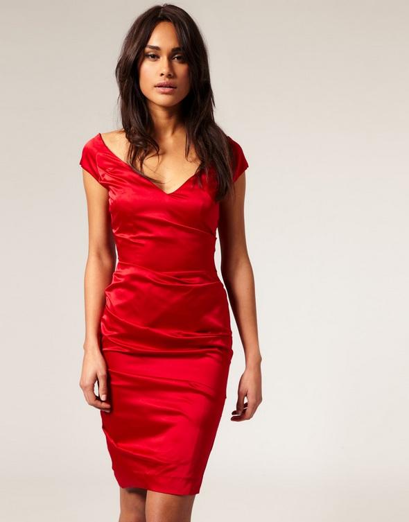 dress robe rouge red asos
