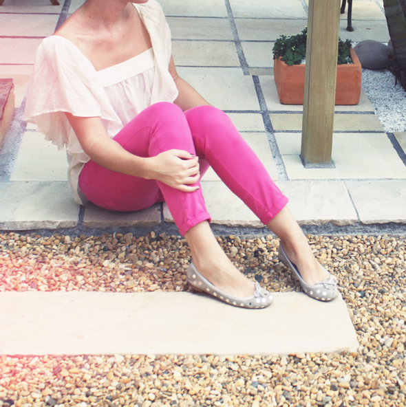 pantalon skinny rose zara