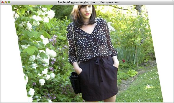 blouse a pois