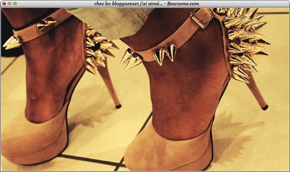 chaussures cloutées