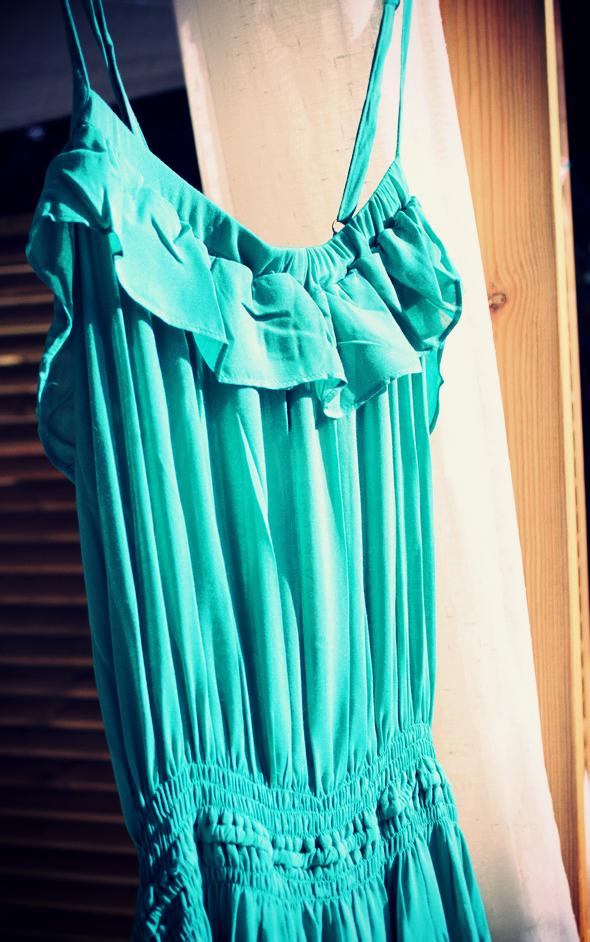 robe thea bel air emeraude