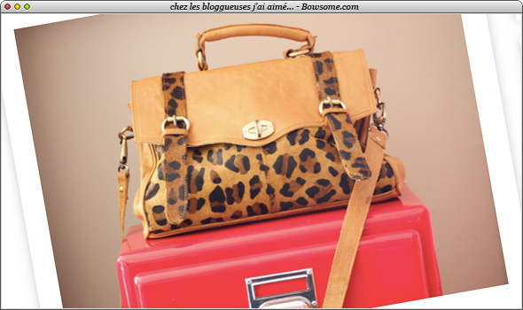 asos leopard bag sac