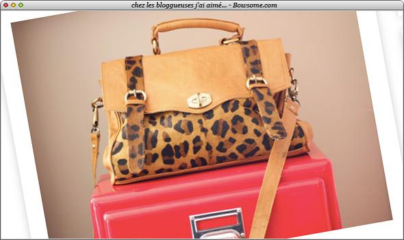 asos leopard bag sac