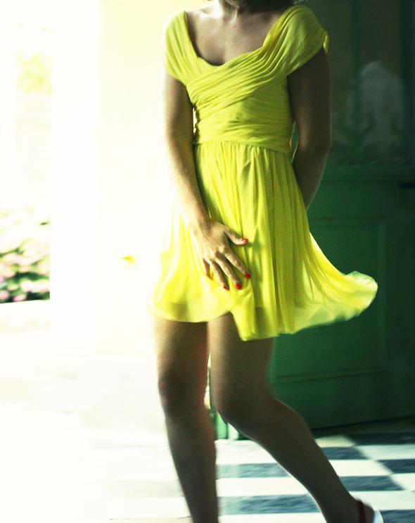 robe Topshop jaune