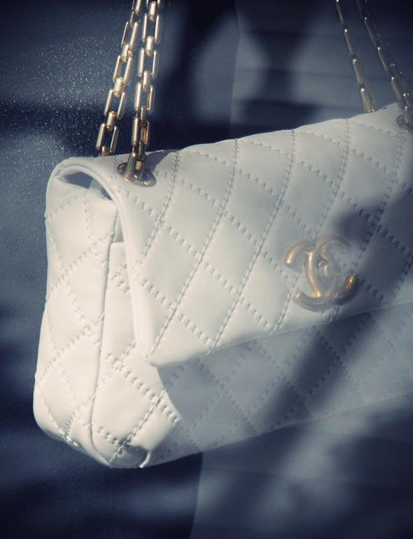 sac blanc chanel
